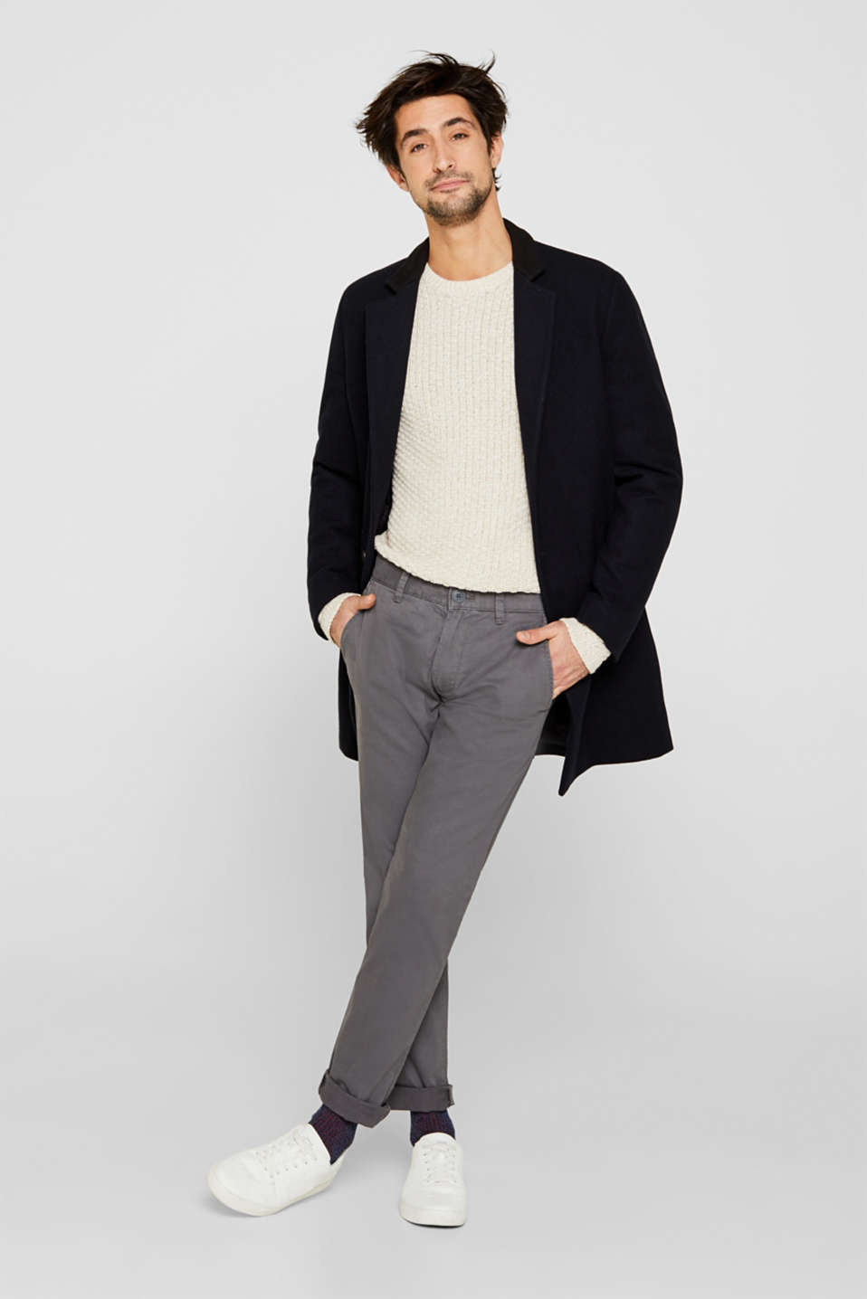 Stretch trousers with COOLMAX®, DARK GREY, detail image number 1