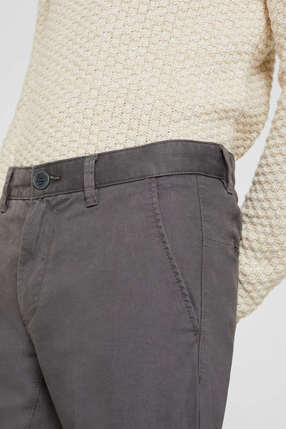 Stretch trousers with COOLMAX®, DARK GREY, detail image number 2