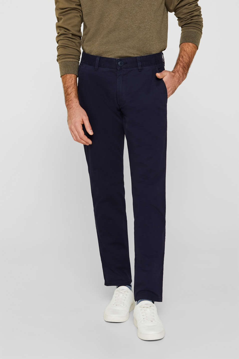 Esprit - Stretch trousers with COOLMAX®