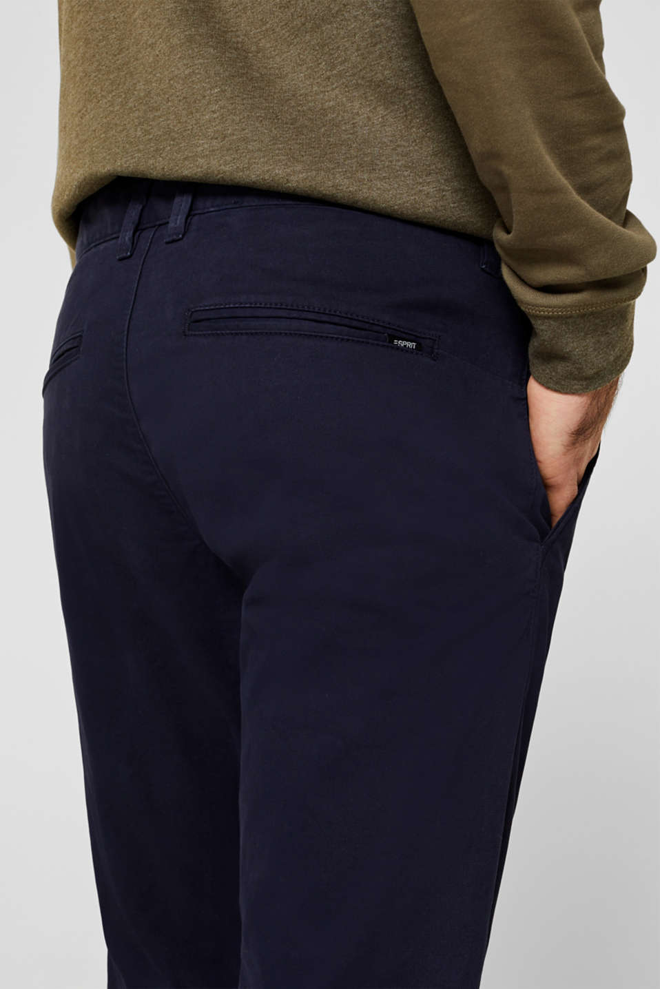 Stretch trousers with COOLMAX®, NAVY, detail image number 5