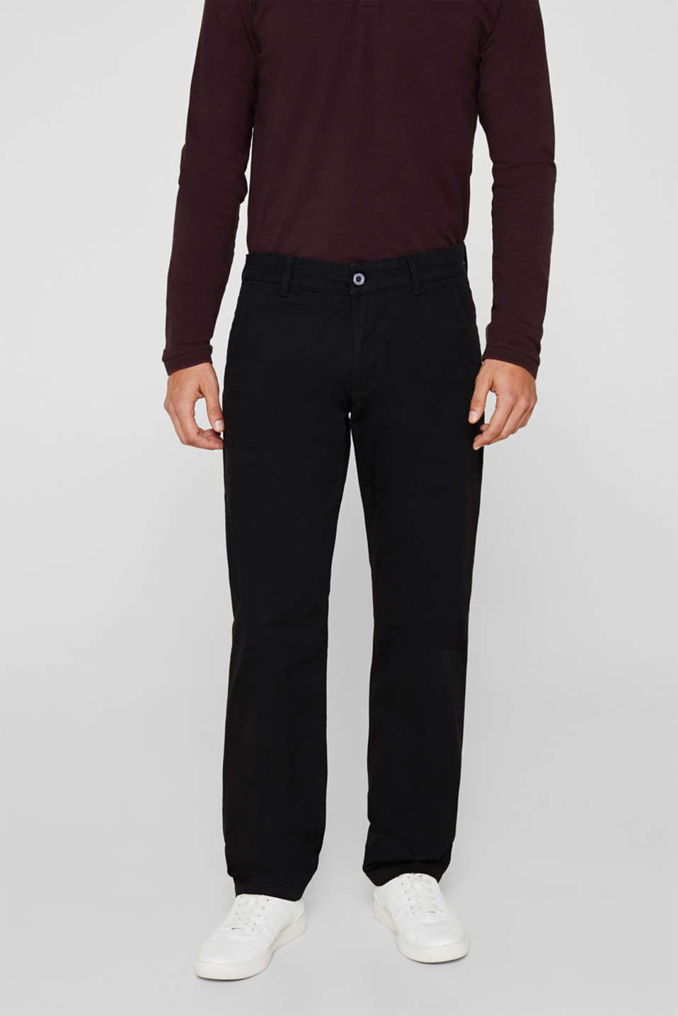 Esprit - Basic tracksuit bottoms in stretch cotton