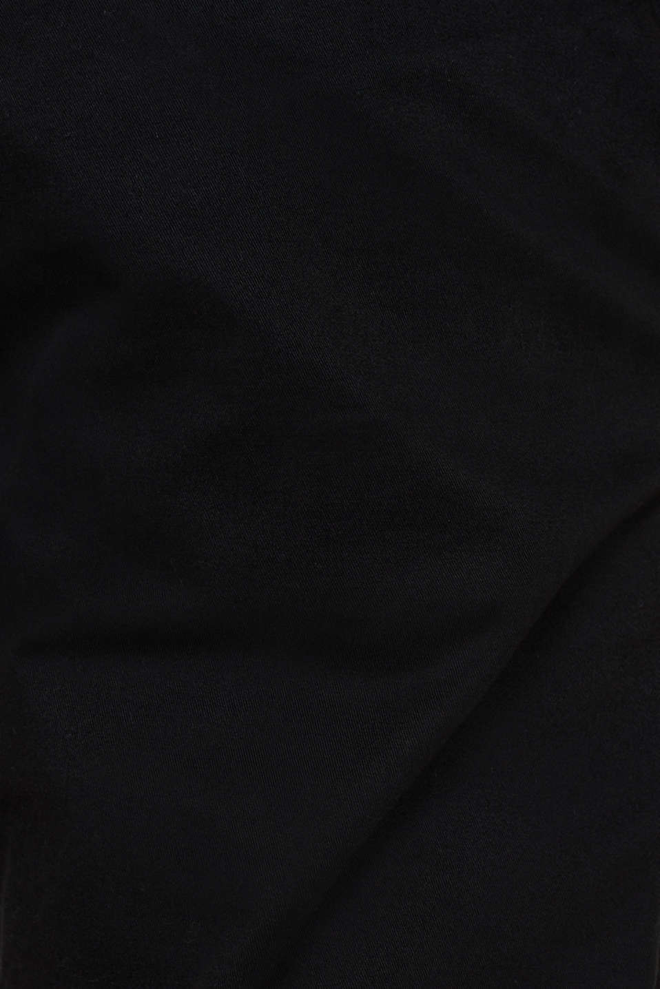 Basic tracksuit bottoms in stretch cotton, BLACK, detail image number 4