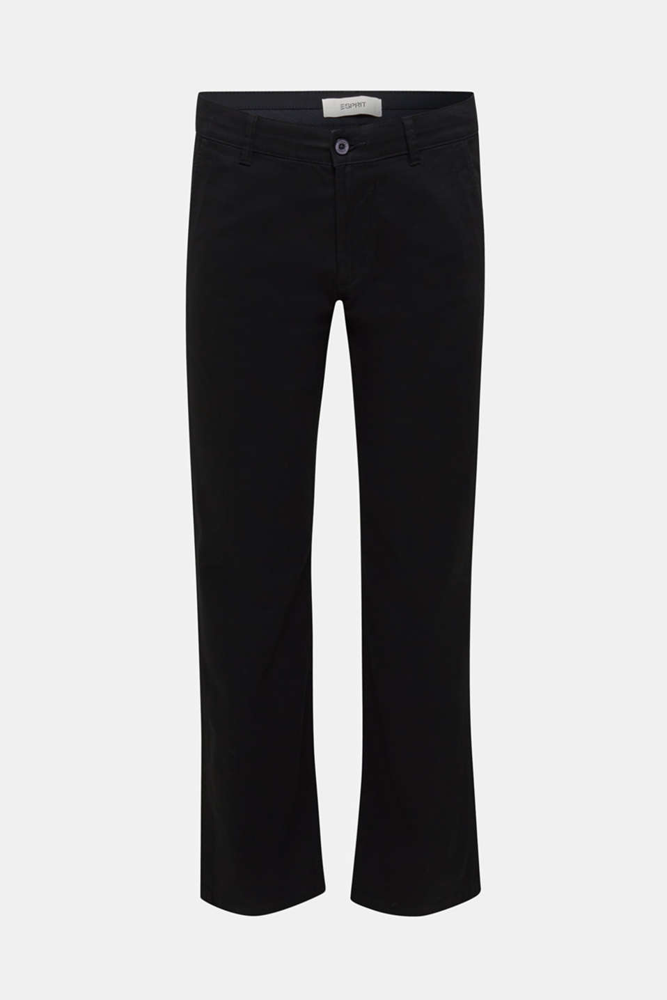Basic tracksuit bottoms in stretch cotton, BLACK, detail image number 6