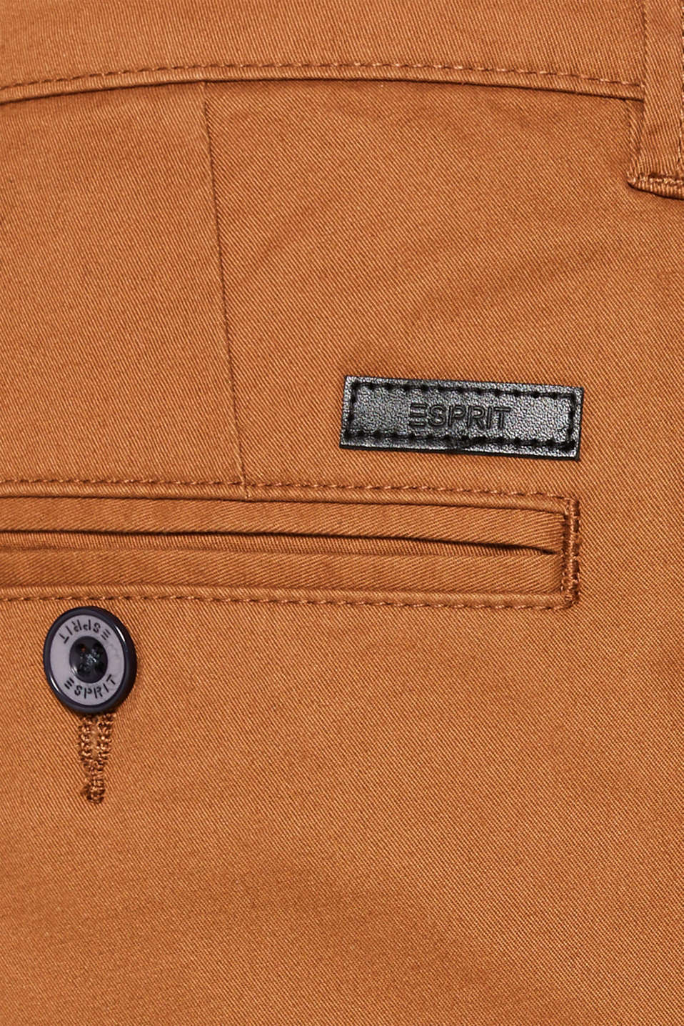 Basic tracksuit bottoms in stretch cotton, CAMEL, detail image number 4