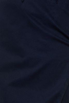 Basic tracksuit bottoms in stretch cotton, NAVY, detail