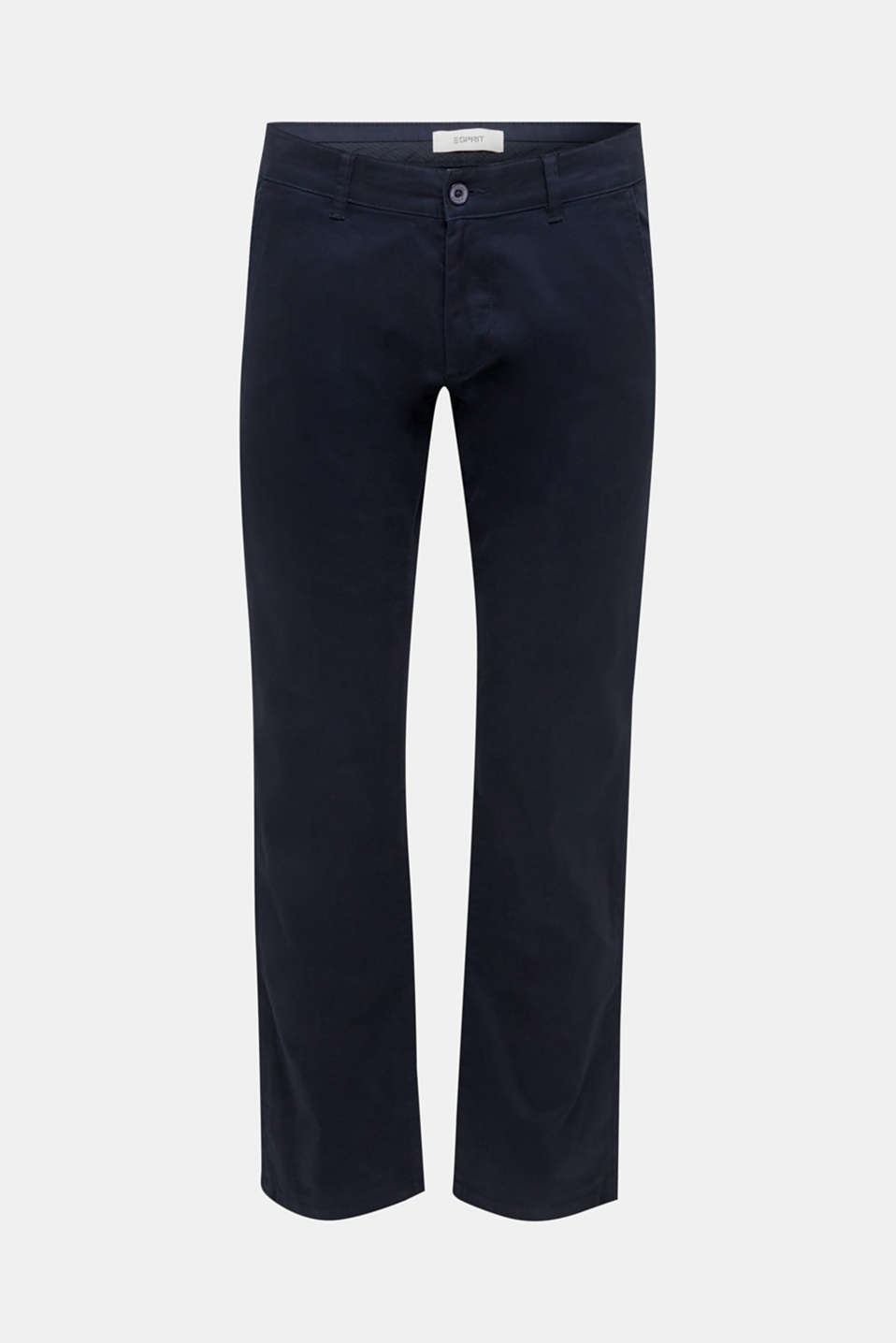 Basic tracksuit bottoms in stretch cotton, NAVY, detail image number 5