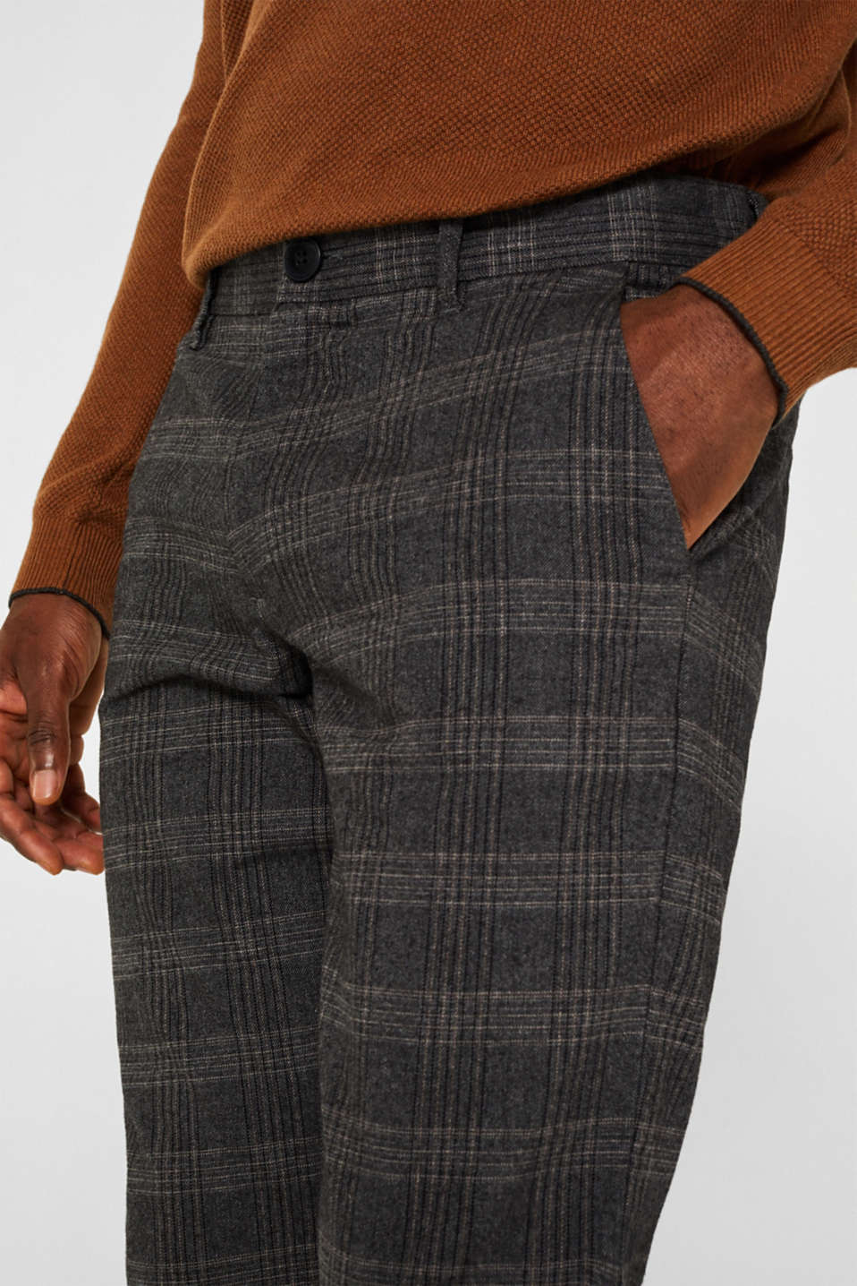Pants woven, DARK GREY 3, detail image number 2