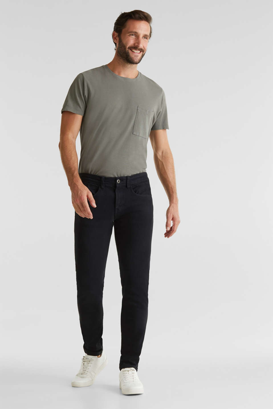 EarthColors®: basic jeans, BLACK, detail