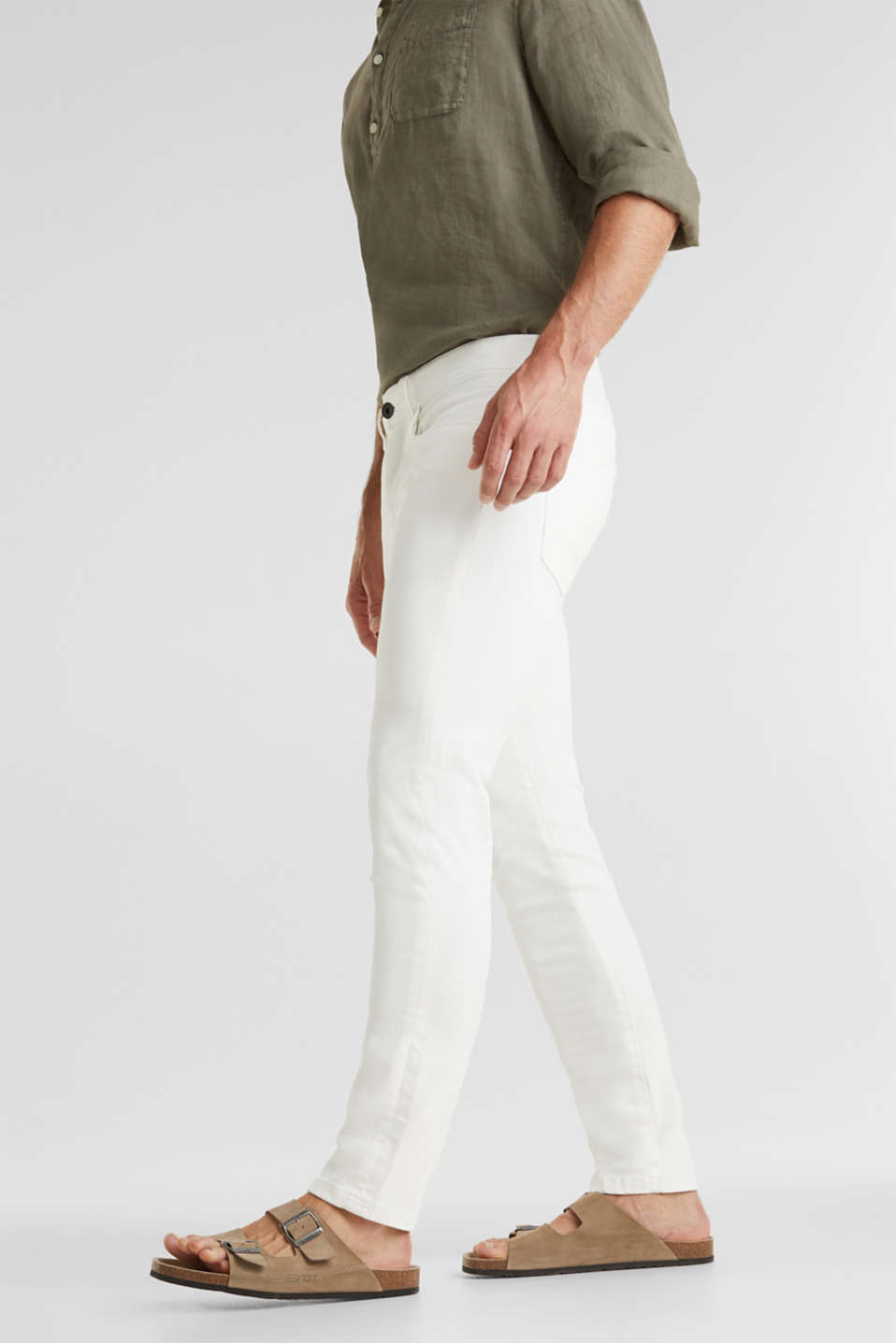 EarthColors®: basic jeans, OFF WHITE, detail image number 0