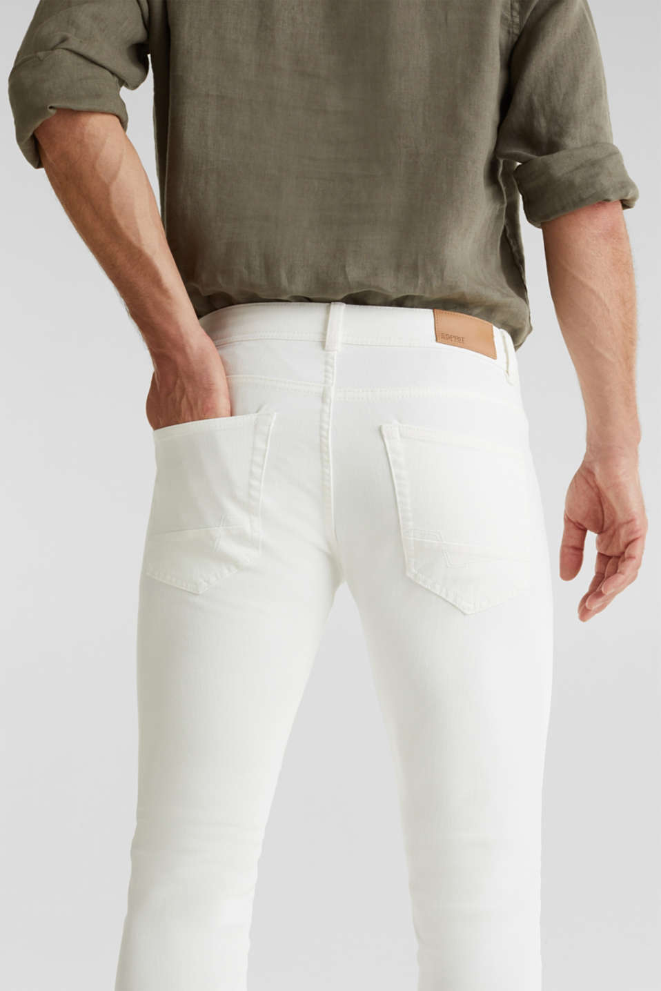 EarthColors®: basic jeans, OFF WHITE, detail image number 4