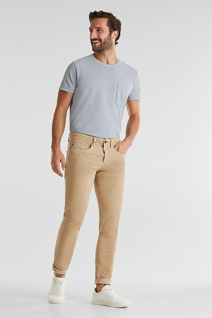 EarthColors®: basic jeans, BEIGE, detail image number 6