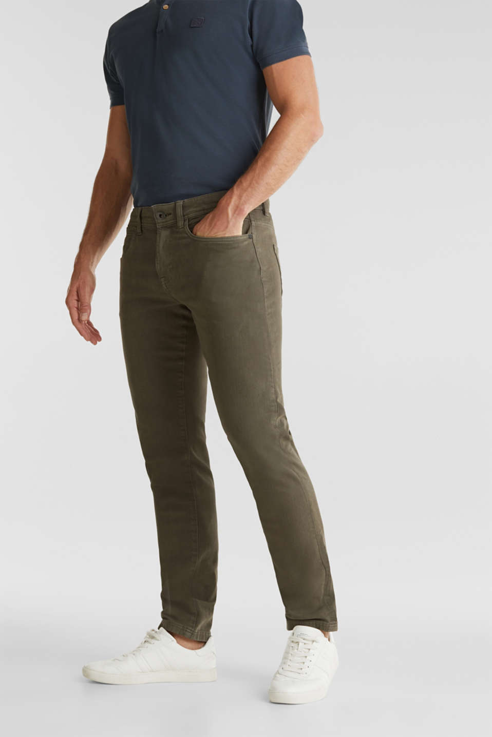 EarthColors®: basic jeans, OLIVE, detail image number 0