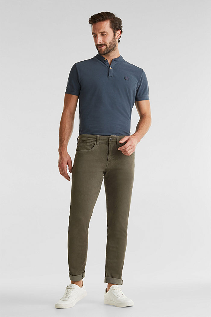 EarthColors®: basic jeans, OLIVE, detail image number 1