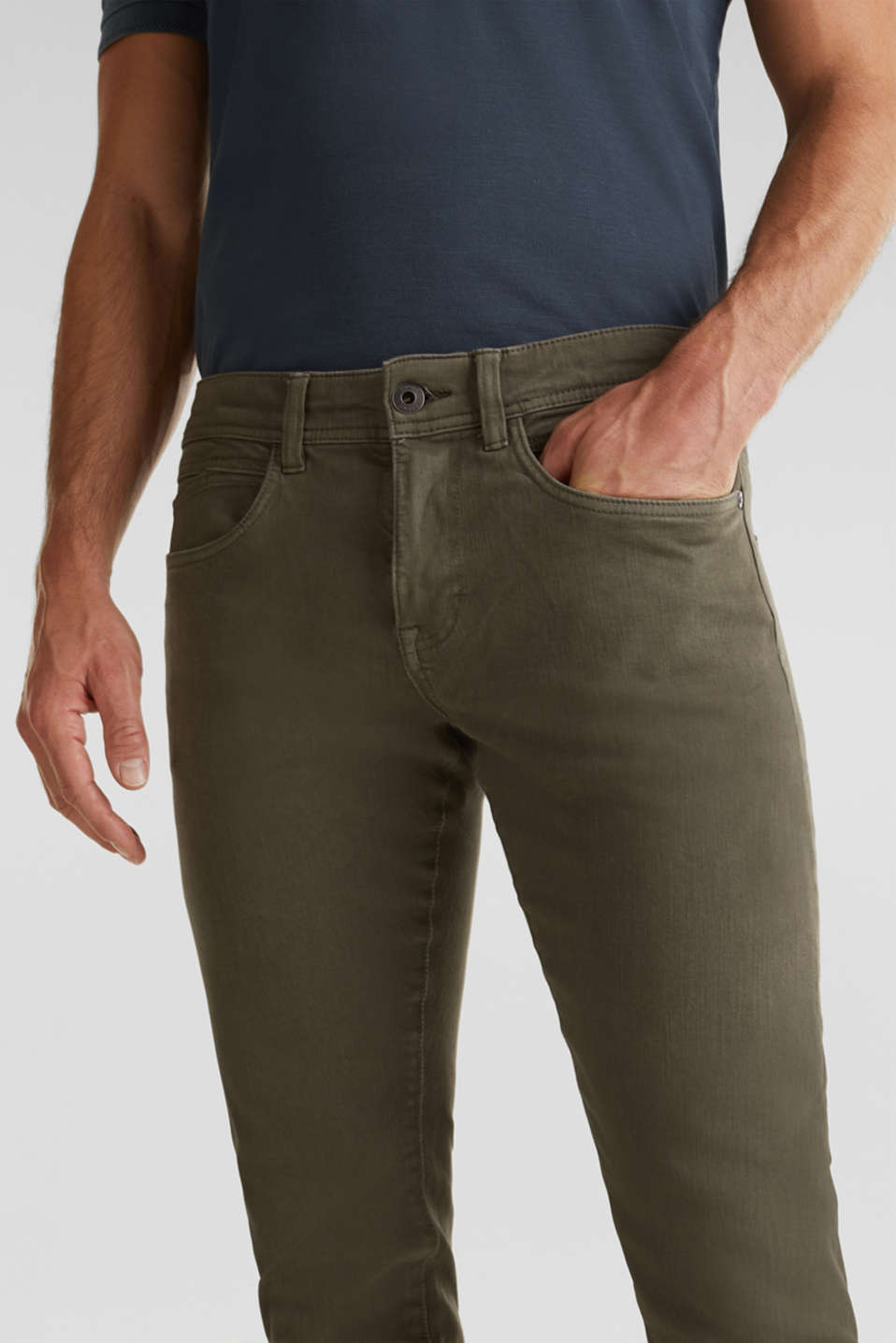 EarthColors®: basic jeans, OLIVE, detail image number 2
