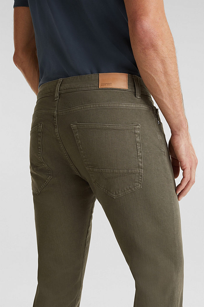 EarthColors®: basic jeans, OLIVE, detail image number 5
