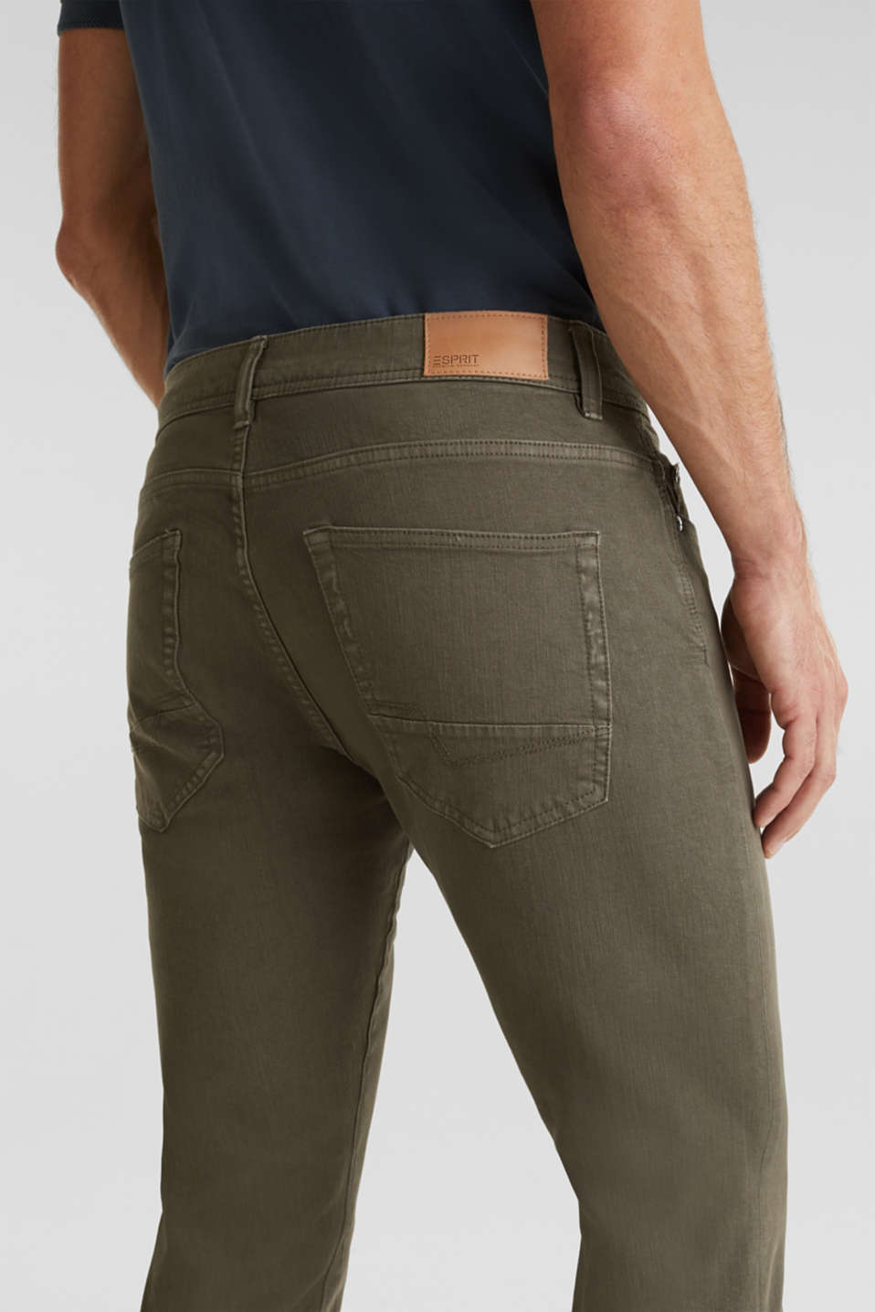 EarthColors®: basic jeans, OLIVE, detail image number 4
