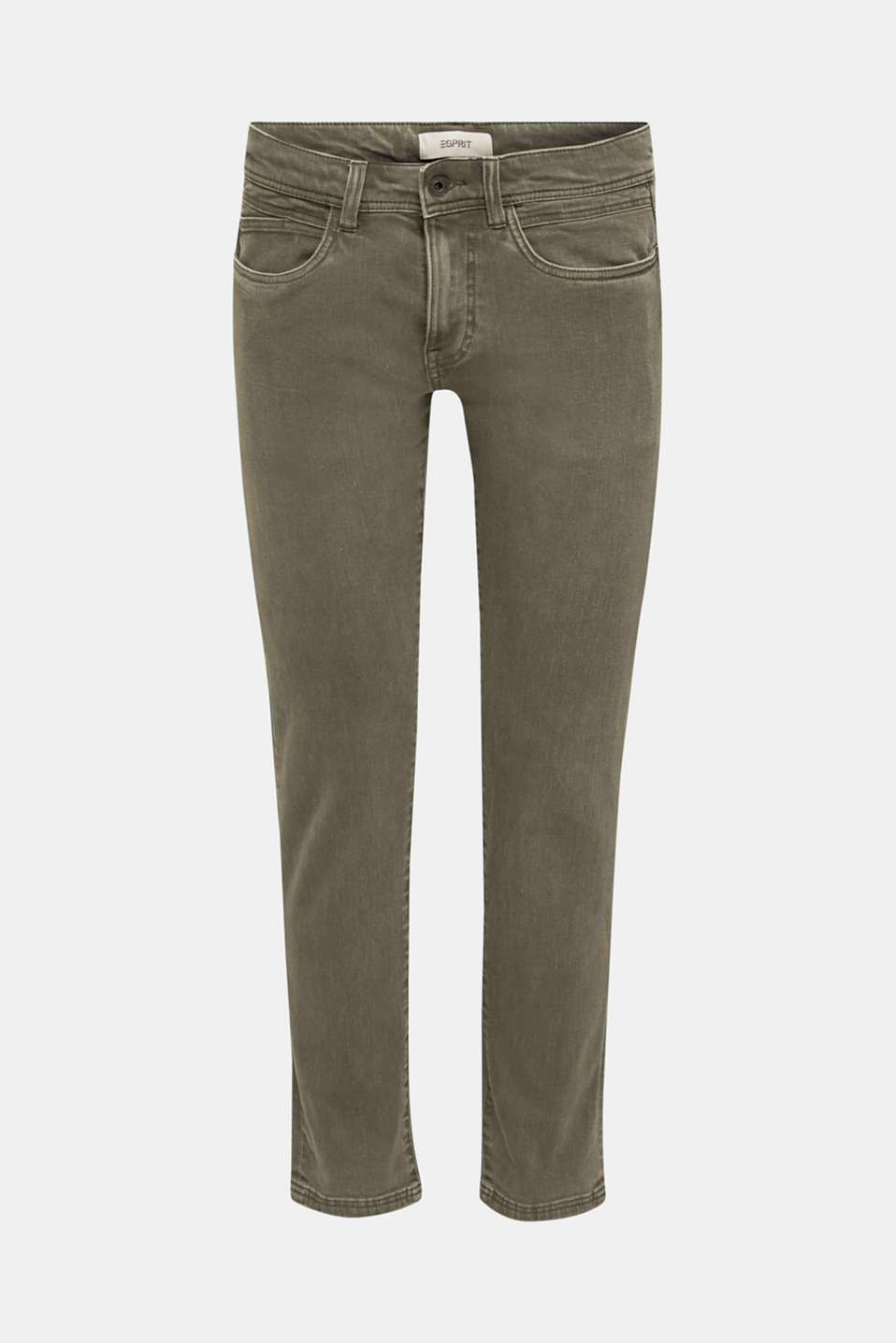 EarthColors®: basic jeans, OLIVE, detail image number 6