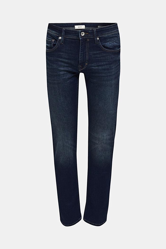 Stretch-Jeans mit Washed Out-Effekt, BLUE DARK WASH, detail image number 0