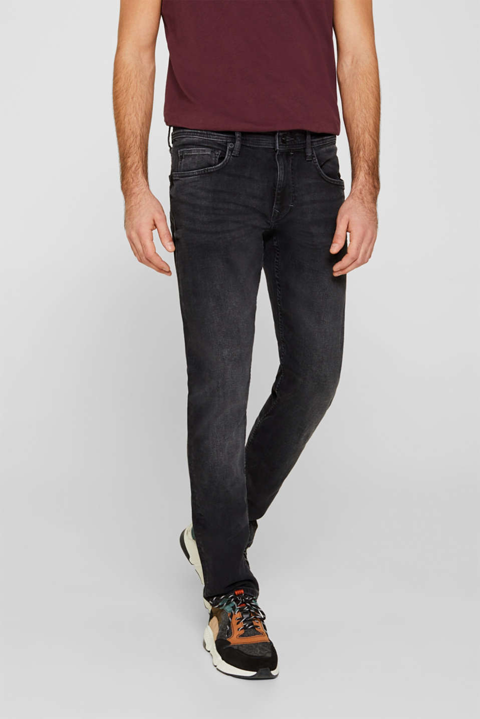 Esprit - Jeans met veel stretch en washed-outeffect