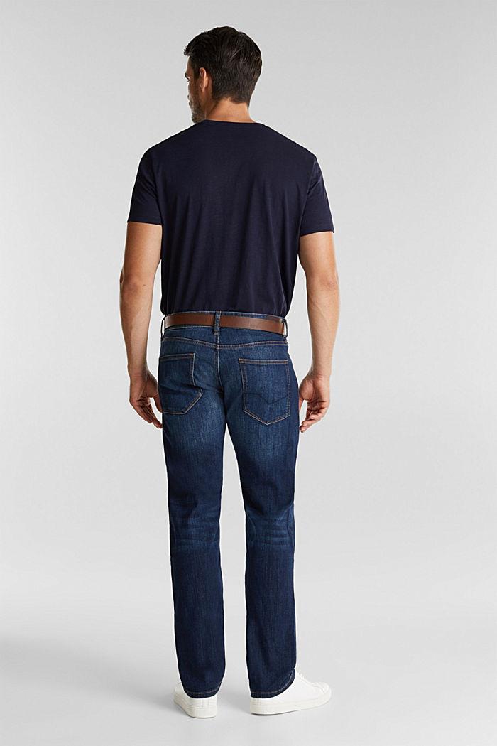 Aus Organic Cotton: Jeans mit Gürtel, BLUE DARK WASHED, detail image number 1