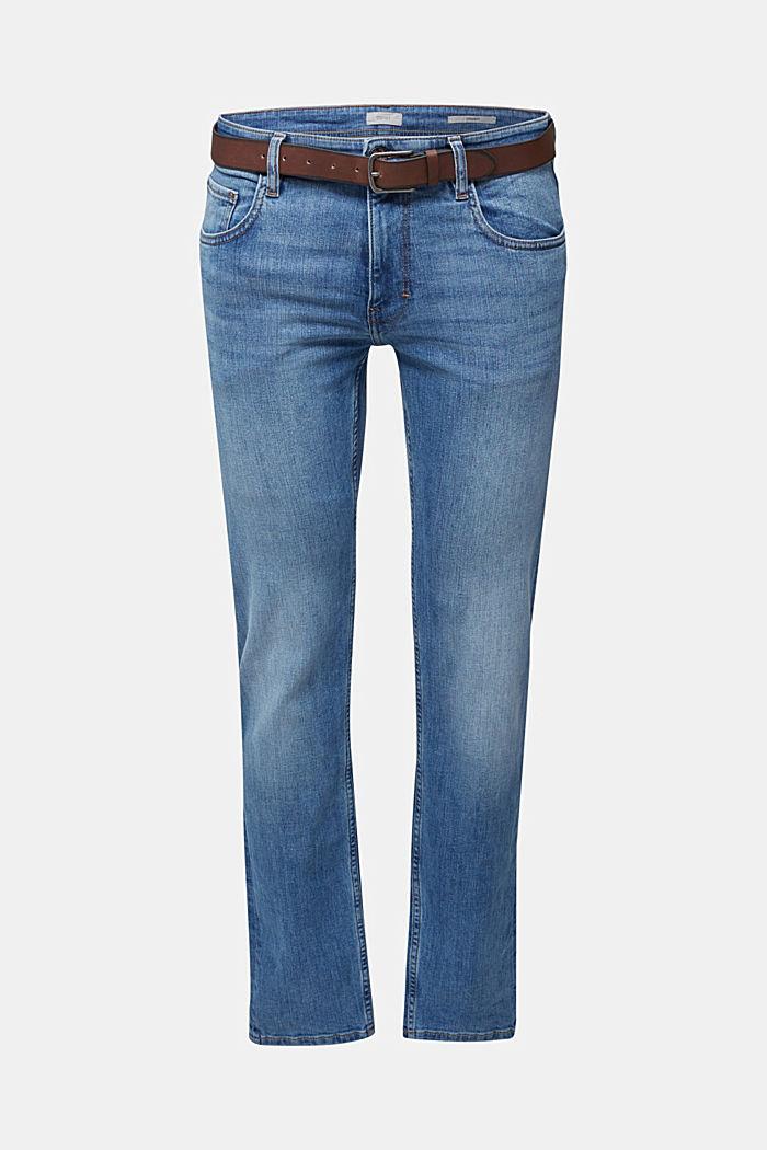 Aus Organic Cotton: Jeans mit Gürtel