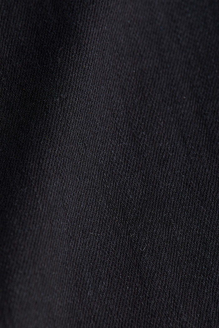 Made of organic cotton: Jeans with a belt, BLACK RINSE, detail image number 4