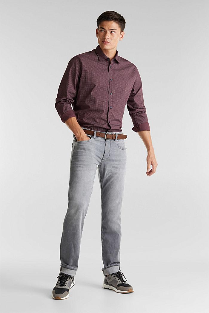 Van organic cotton: jeans met riem, GREY MEDIUM WASHED, detail image number 2