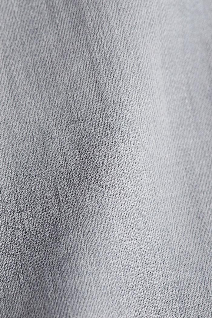 En algodón ecológico: vaqueros con cinturón, GREY MEDIUM WASHED, detail image number 4