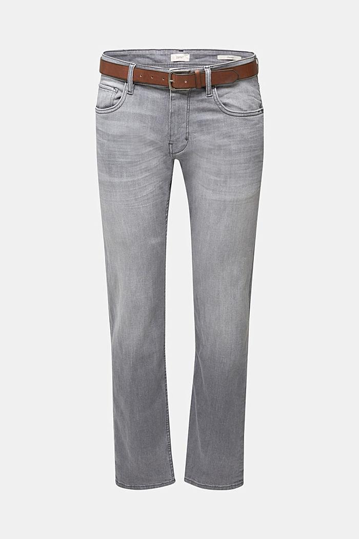 Van organic cotton: jeans met riem