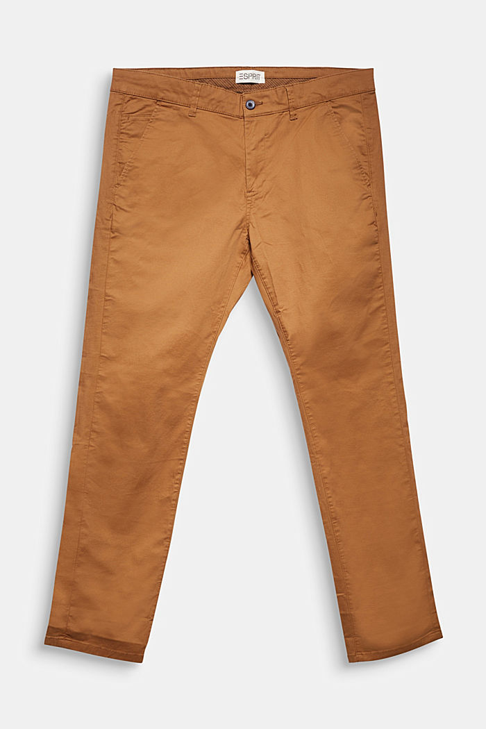 Chinos made of organic cotton, CAMEL, detail image number 0