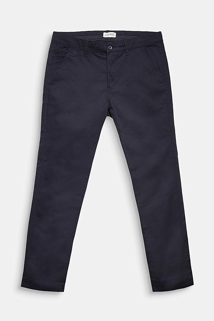 Chinos made of organic cotton, NAVY, detail image number 1