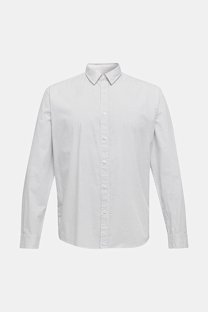 Shirt with micro print, 100% cotton, WHITE, detail image number 5