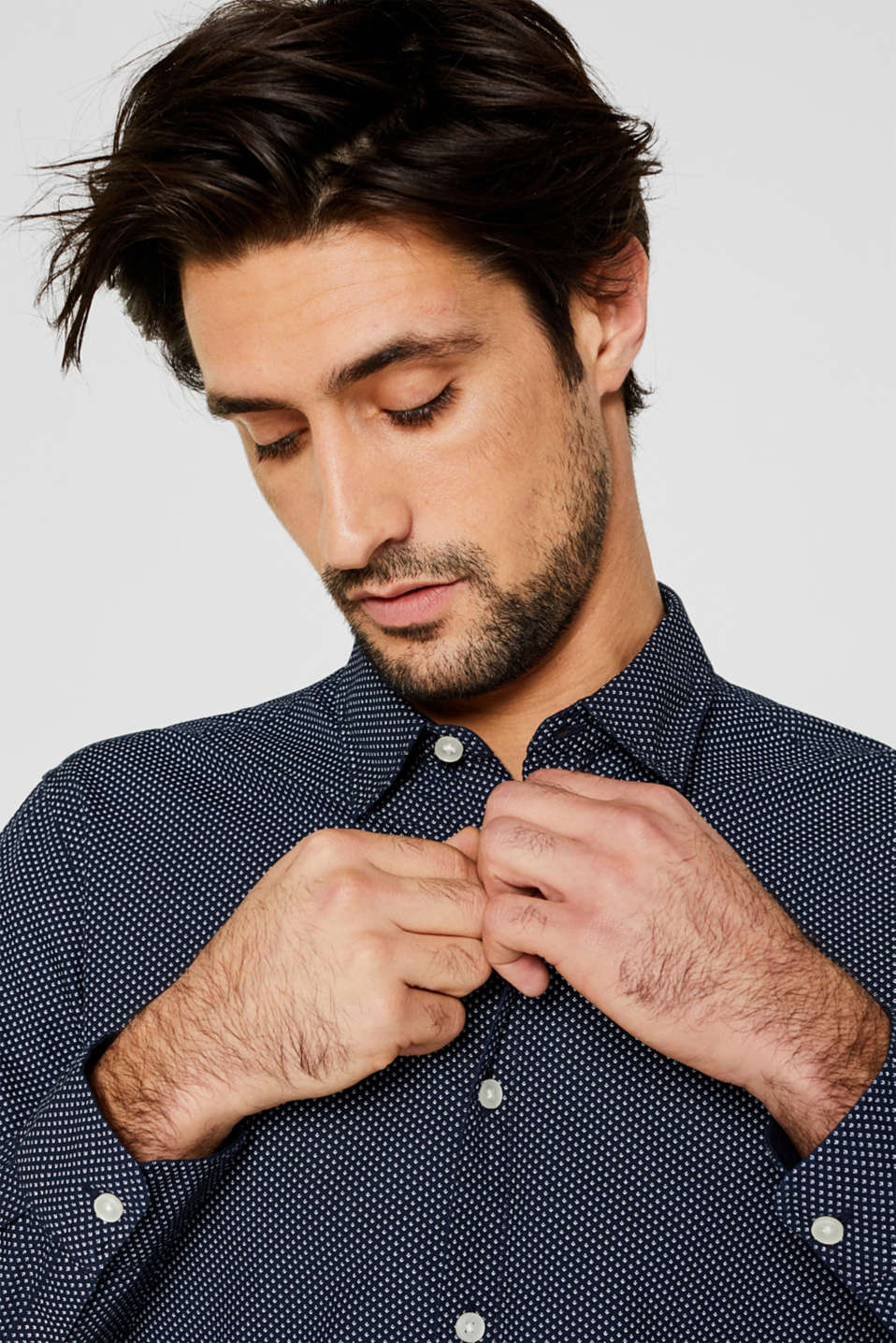 Shirts woven Slim fit, BLUE 4, detail image number 4