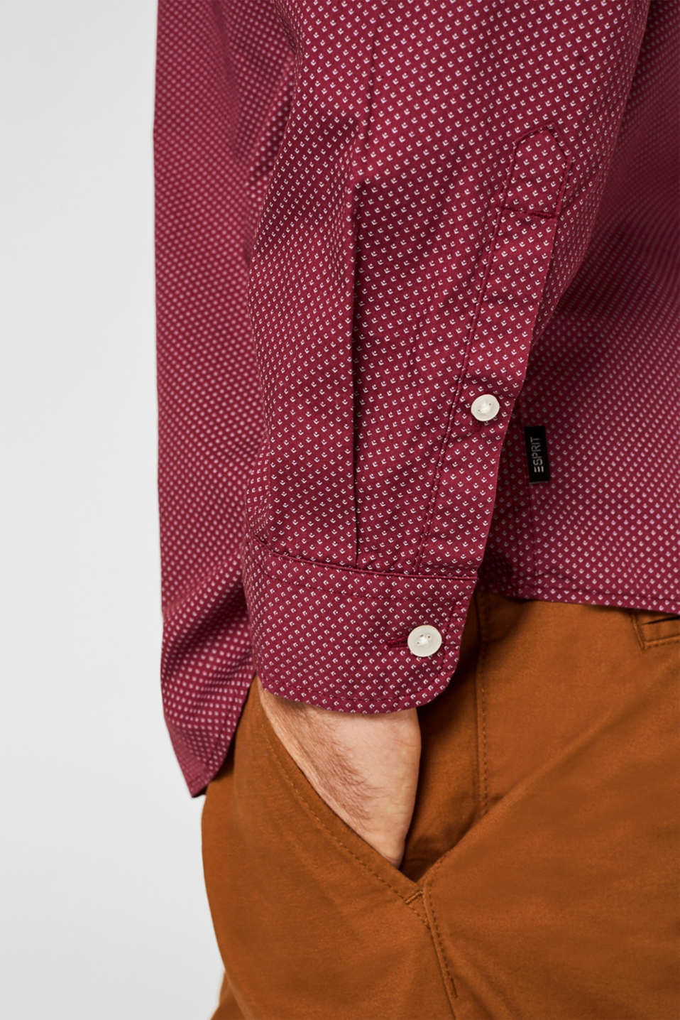 Shirts woven Slim fit, BORDEAUX RED 4, detail image number 2