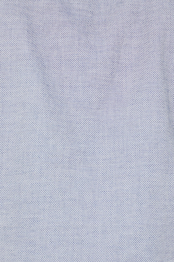 Shirt with band collar, 100% cotton, GREY BLUE, detail image number 4
