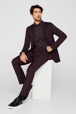 Premium shirt with a floral print, 100% cotton, BLACK 4, detail