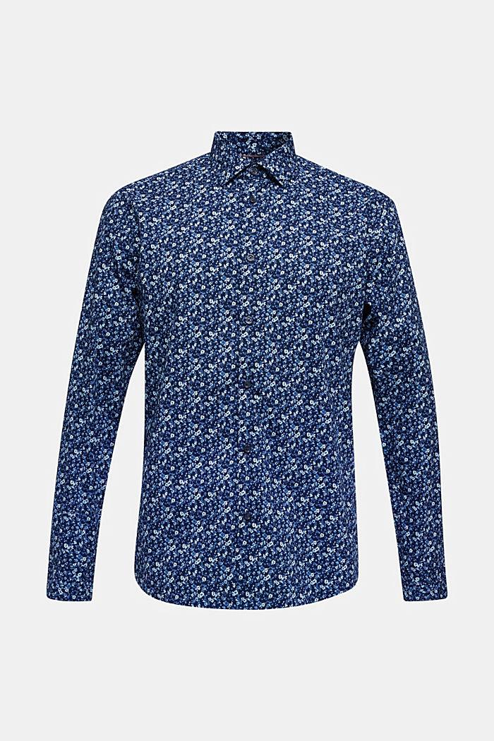 Premium-Hemd mit Blumen-Print, 100% Baumwolle, DARK BLUE 4, detail image number 0
