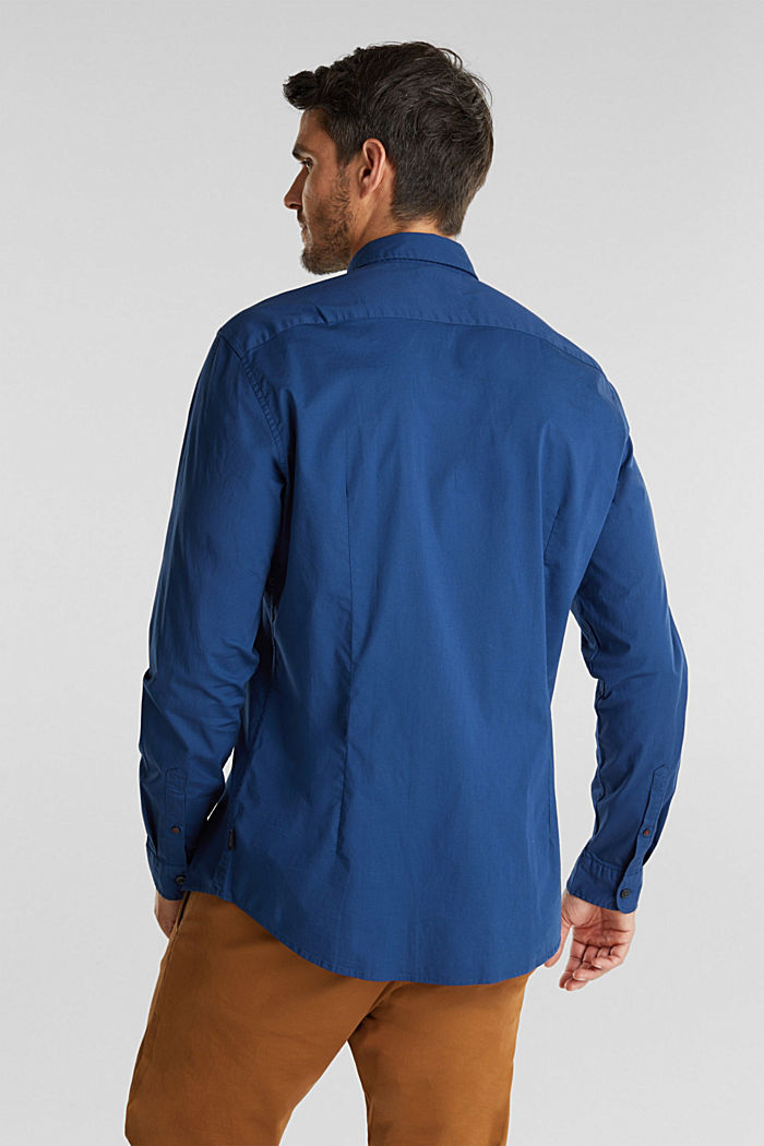Shirt made of stretch cotton, BLUE, detail image number 3