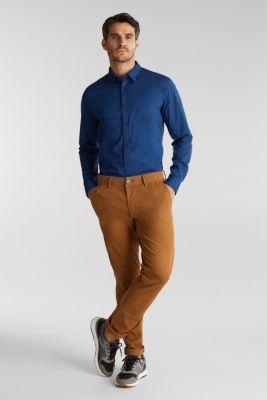 Shirt made of stretch cotton, BLUE 4, detail