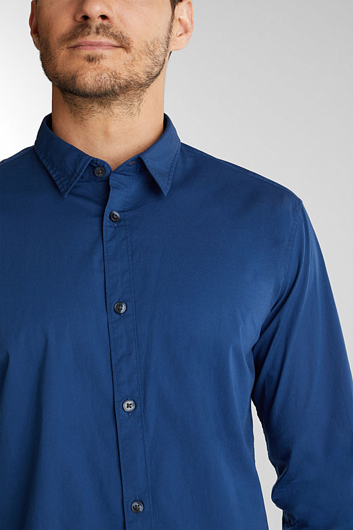 Shirt made of stretch cotton, BLUE, detail image number 2