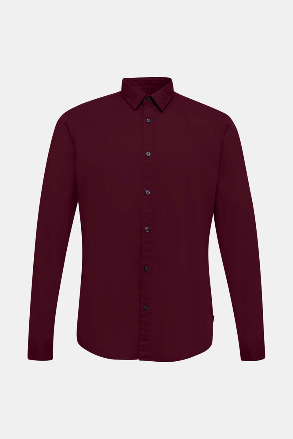Shirt made of stretch cotton, BORDEAUX RED, detail image number 7
