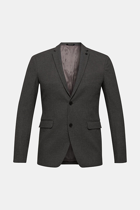 Tailored jacket made of blended cotton
