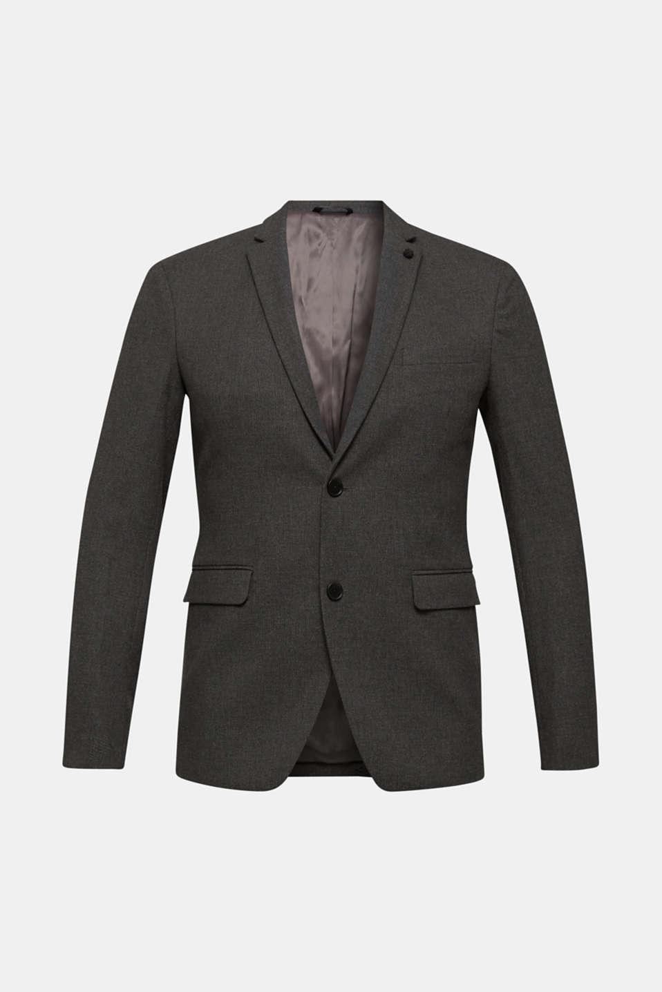 Tailored jacket made of blended cotton, DARK GREY 5, detail image number 6