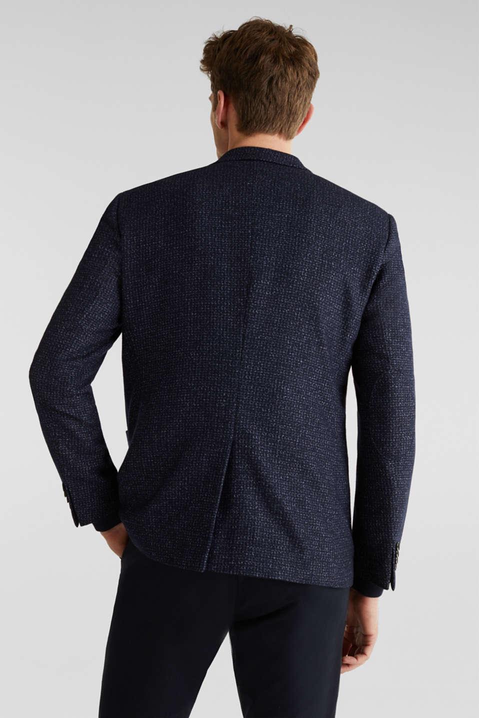 Blended wool: melange jacket, DARK BLUE 5, detail image number 3