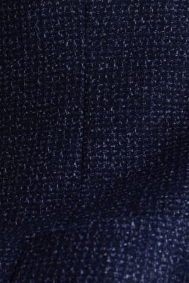 Blended wool: melange jacket, DARK BLUE 5, detail