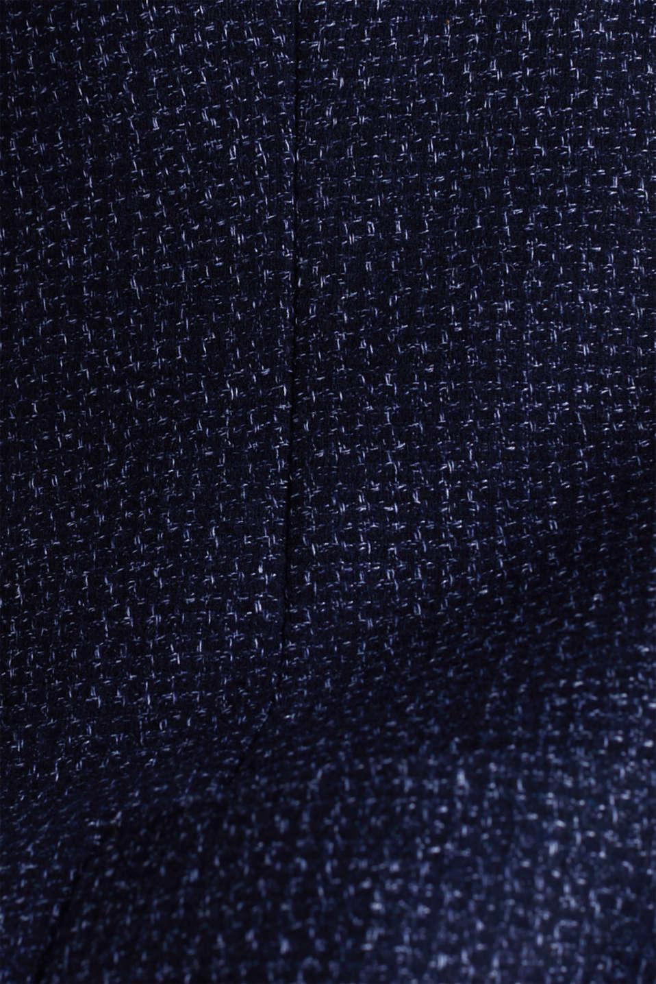 Blended wool: melange jacket, DARK BLUE 5, detail image number 4