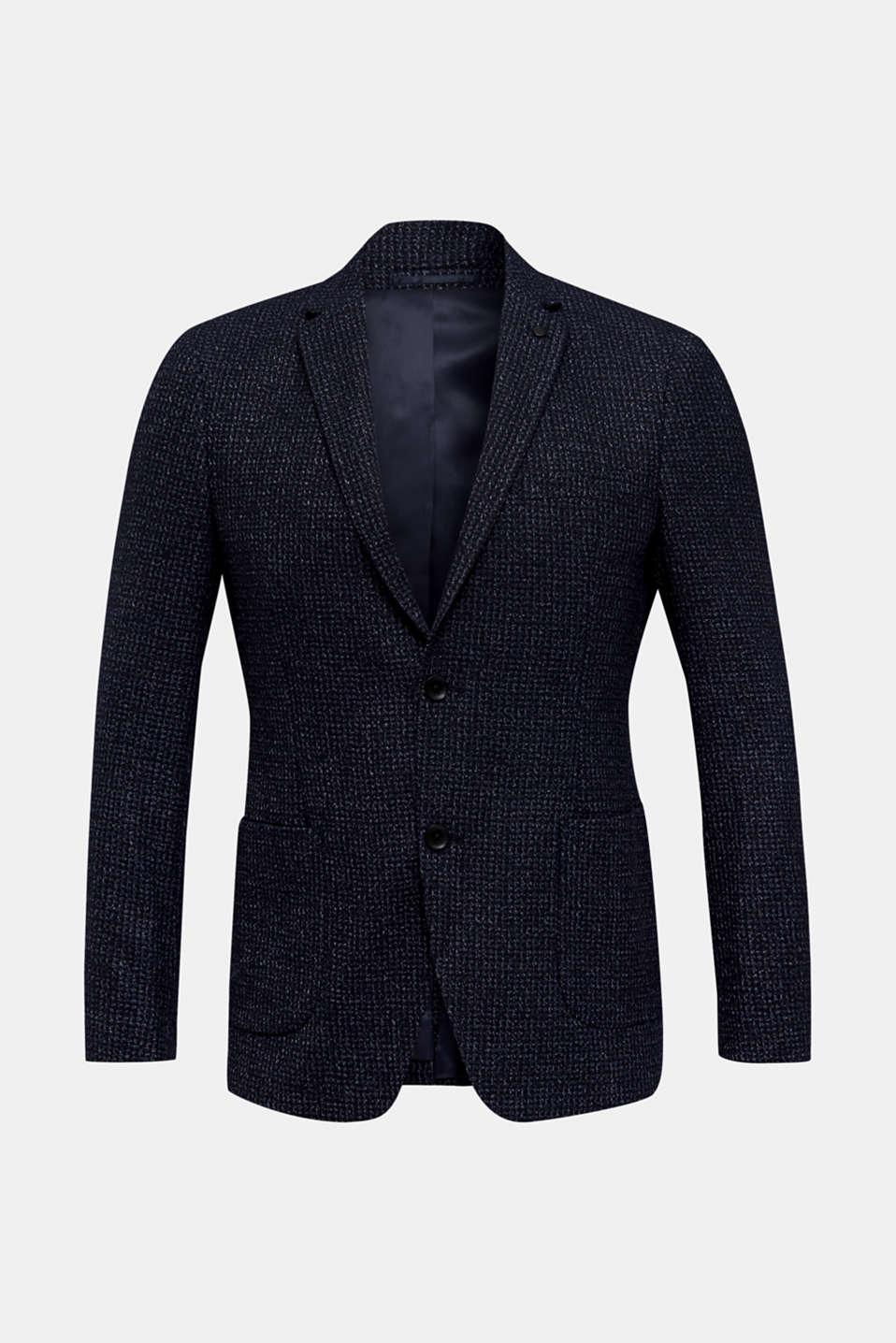Blended wool: melange jacket, DARK BLUE 5, detail image number 6