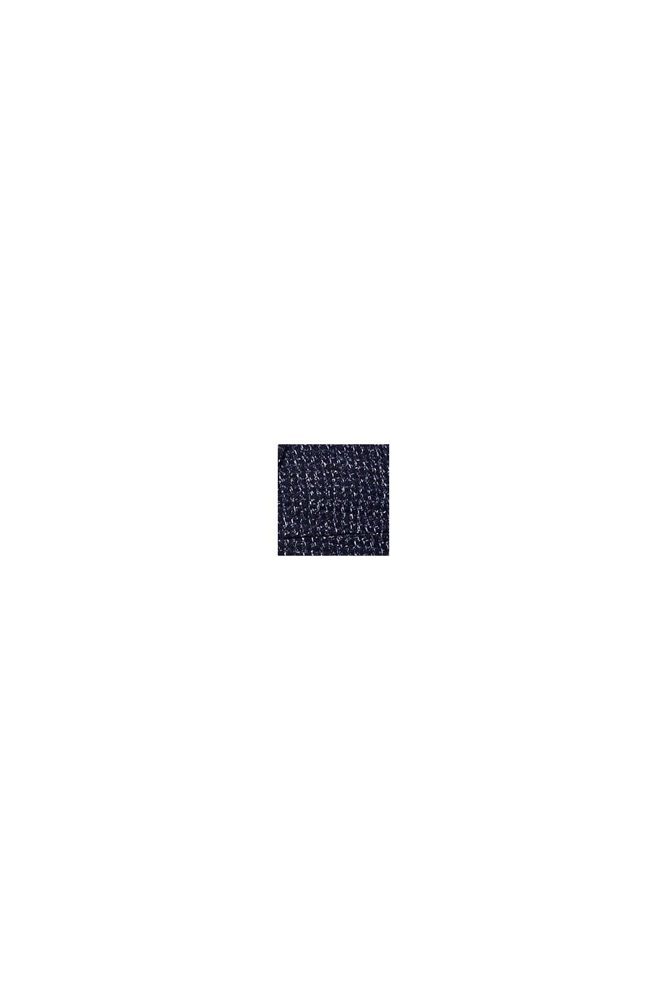 Laine mélangée: la veste chinée, DARK BLUE, swatch