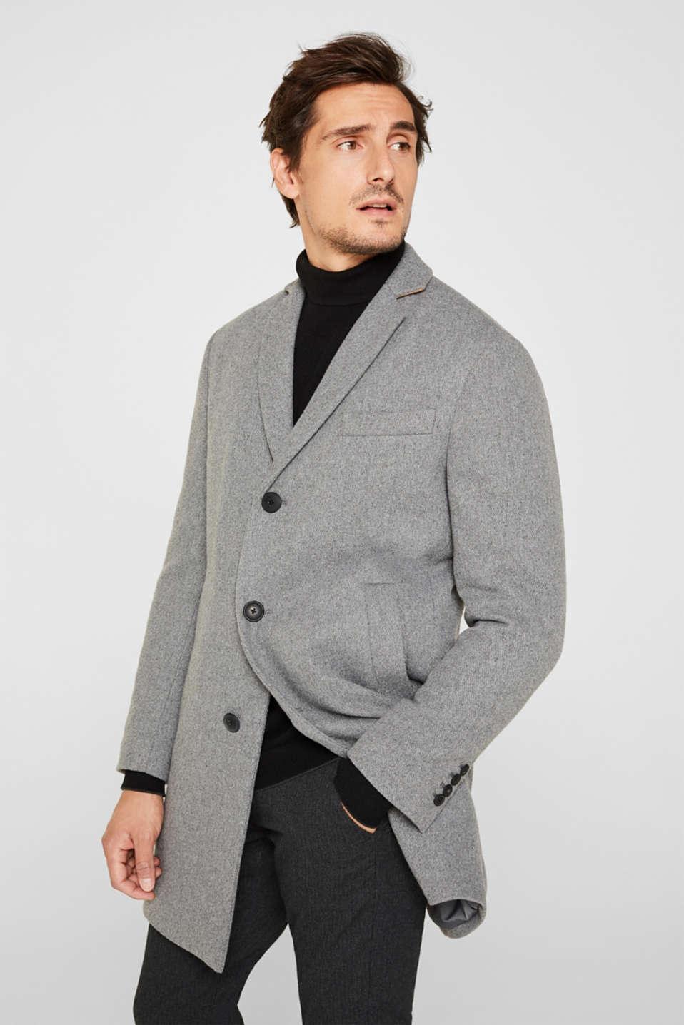 Wool blend: Padded coat, GREY 5, detail image number 0