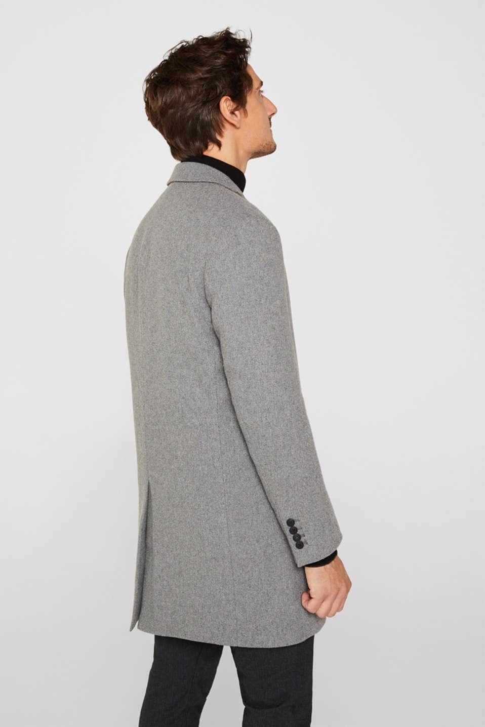 Wool blend: Padded coat, GREY 5, detail image number 3